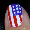 American Flag Nails 2012