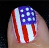 American Flag Nails 2012