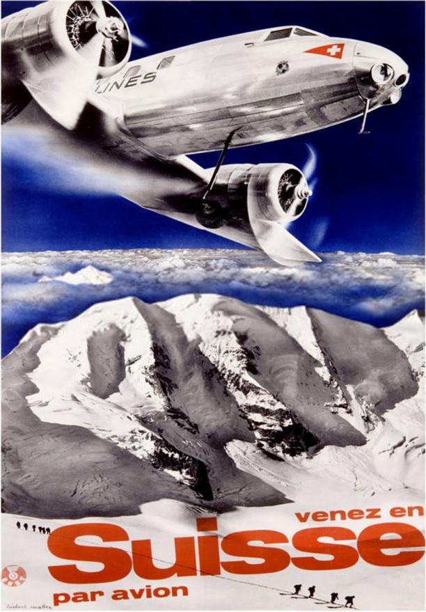 Venez en Suisse par avion - Swissair Airlines